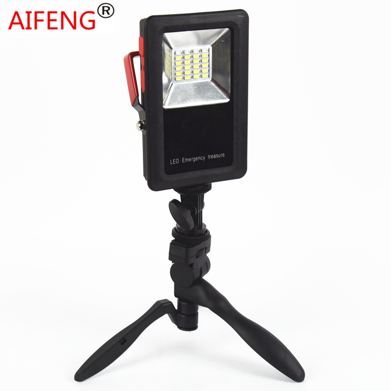 AIFENG Outdoor Waterproof LED Work Flood Light Rechargeable Usb 30w 2400lm Power By 18650 Battery Powerful Portable Spotlights