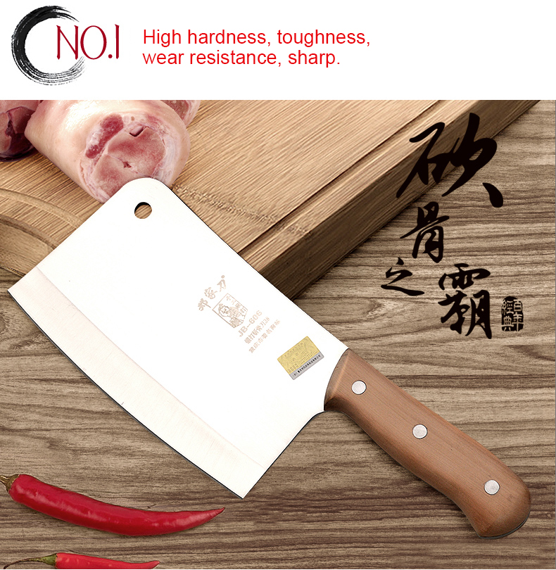 Stainless steel 5 chrome Kitchen Knives Cooking tools dual slicing vegetable chopping chinese cleaver chef fruit
