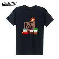 Новые летние модные хлопковые Футболка мужская одежда мультфильм комедий South Park футболки с короткий рукав футболки Размер