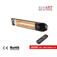 2000W Electric Infrared Patio Heater Indoor and Outdoor Radiant Strip Heater
