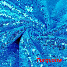 2Yard Embroidery Sequin Fabric Material Turquoise Sparkly Used to Make Clothes shoes Bags Wedding Partie Event Decor-9527