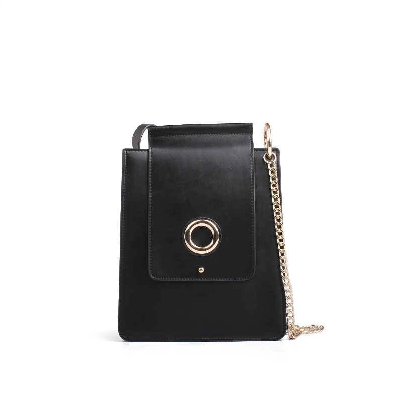2017 New chain Bags Genuine Leather Fashion Vintage Women Circle adornment Rock Cell Phone Bags Small Mini Clutch shoulder bags 2017 fashion all match retro split leather women bag top grade small shoulder bags multilayer mini chain women messenger bags
