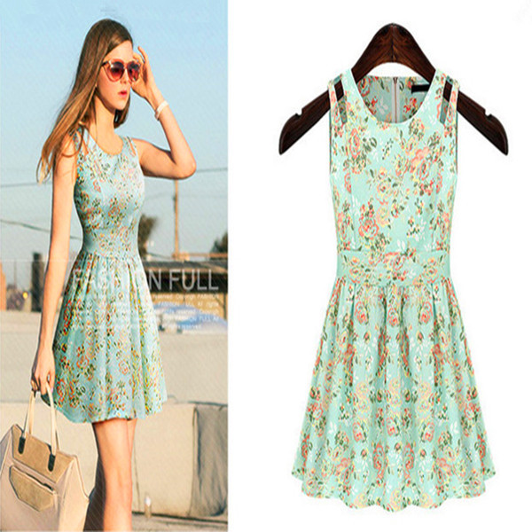 Buy Cheap Brand Quality Casual Summer Dress Fashion Plus Size Female Tropical Summer Style Vestido De Festa Femininas Women Dress
