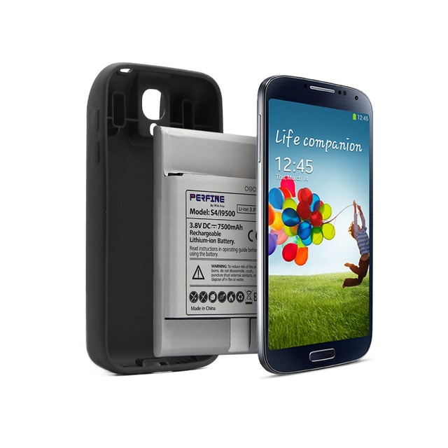 purchase cheap 615cf 79e4c US $20.99 16% OFF|i9500 Replacement Battery B600BC/BE For Samsung Galaxy S4  i9505 Extended Battery NFC 7500mAh+Full Edge Protective TPU Case Black-in  ...