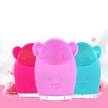 1P Electric Silicone Facial Cleansing Brush USB Rechargeable Electric Facial Cleanser Waterproof Ultrasonic Pore Clean Instrumen hot cleanser electric silica gel wash face ultrasonic cleaning facical brush beauty charge waterproof clean pore device