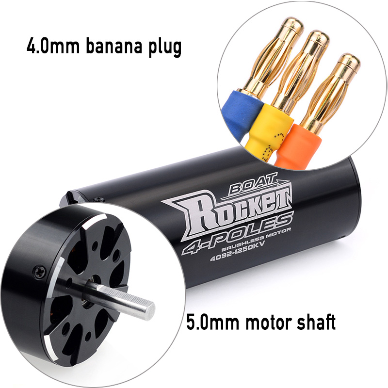 Image 4 - SURPASSHOBBY Rocket 4092 1520KV 1250KV 4P Brushless Motor for Traxxas M41 Catamaran Spartan 1000mm(or Above) RC Boat Car-in Parts & Accessories from Toys & Hobbies