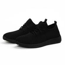 Solid Women Sneakers Platform Shoes Breathable Summer 2019 New Casual Lightweight Shoes Slip on Flats Black Net Shoes Female Hot