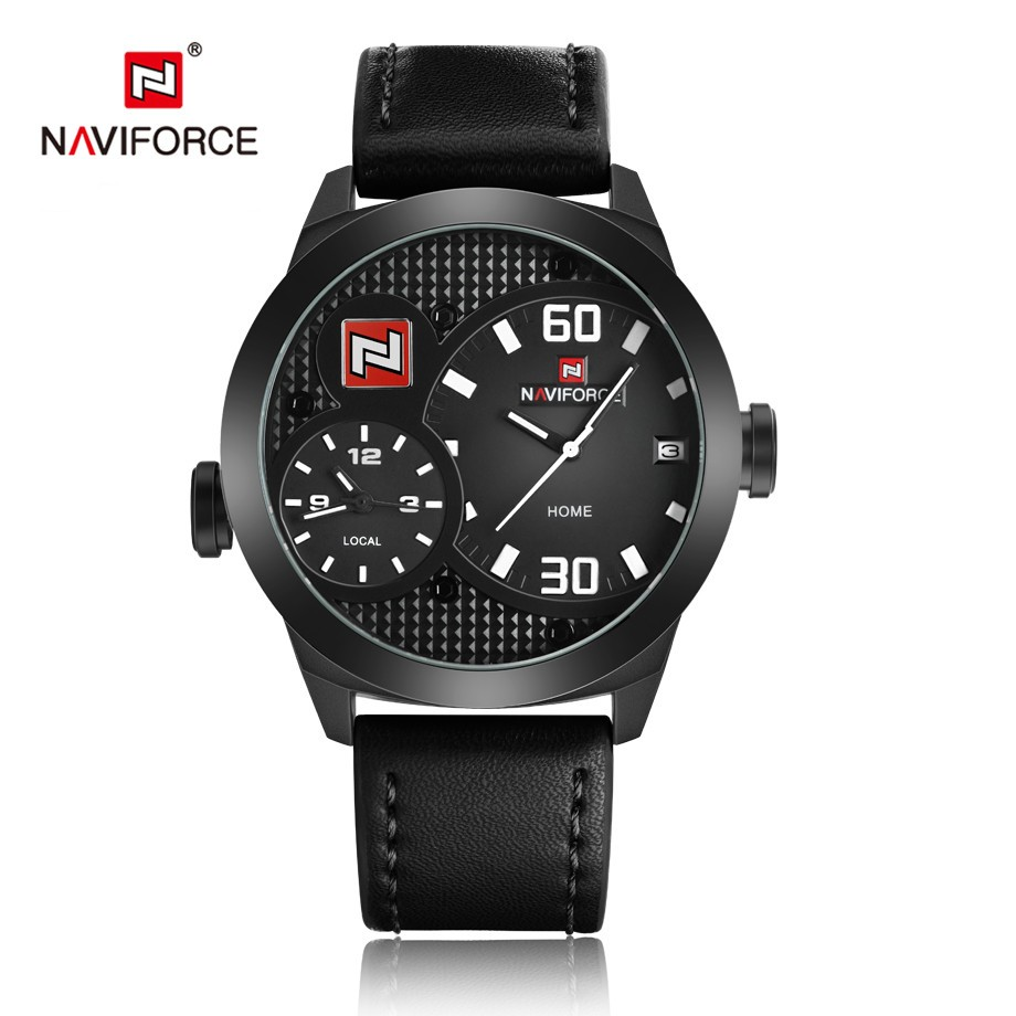 NAVIFORCE Watches Male Quartz Watch Casual Leather Strap Military Wristwatch Mens Watches Top Brand Luxury relojes