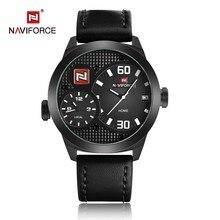 NAVIFORCE Reloj Militar Correa de Cuero Relojes Hombres Reloj de Cuarzo Ocasional Relojes Para Hombre de Primeras Marcas de Lujo relojes hombre