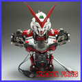 MODEL FANS INSTOCK finished gundam 1/35 red/blue heresy Bust contain led light toy gift action figure