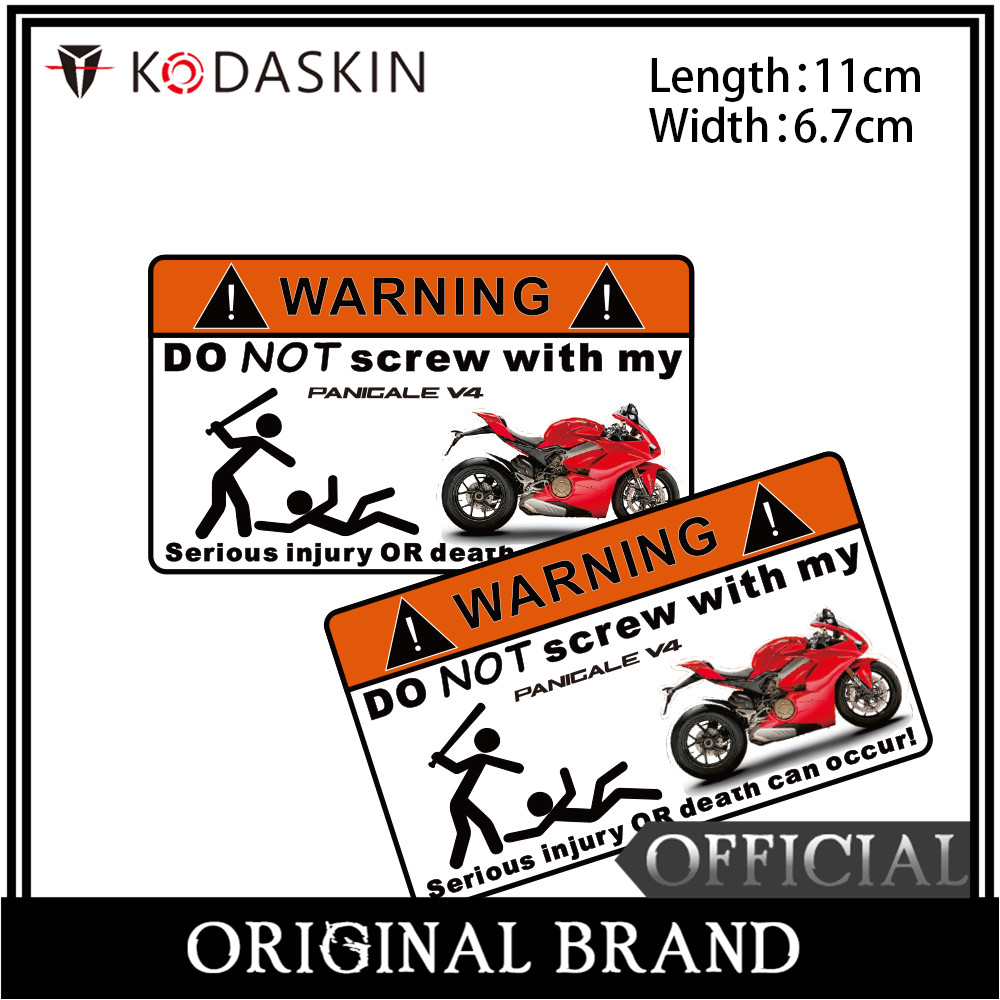 KODASKIN 2 Pieces Warning Do Not Screw Sticker Decal For Ducati PANIGALE V4