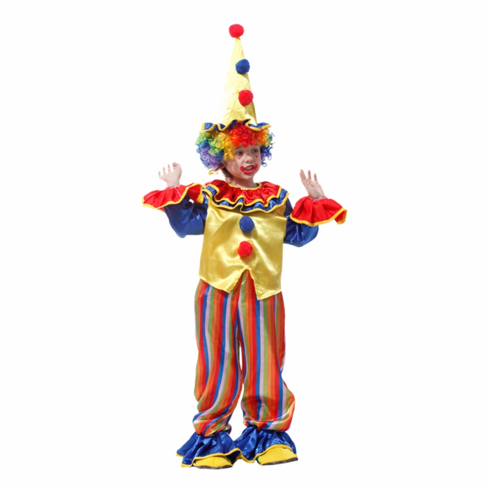Kids cute clown halloween cosplay costumes for boys full for Cute halloween costumes for 12 year olds
