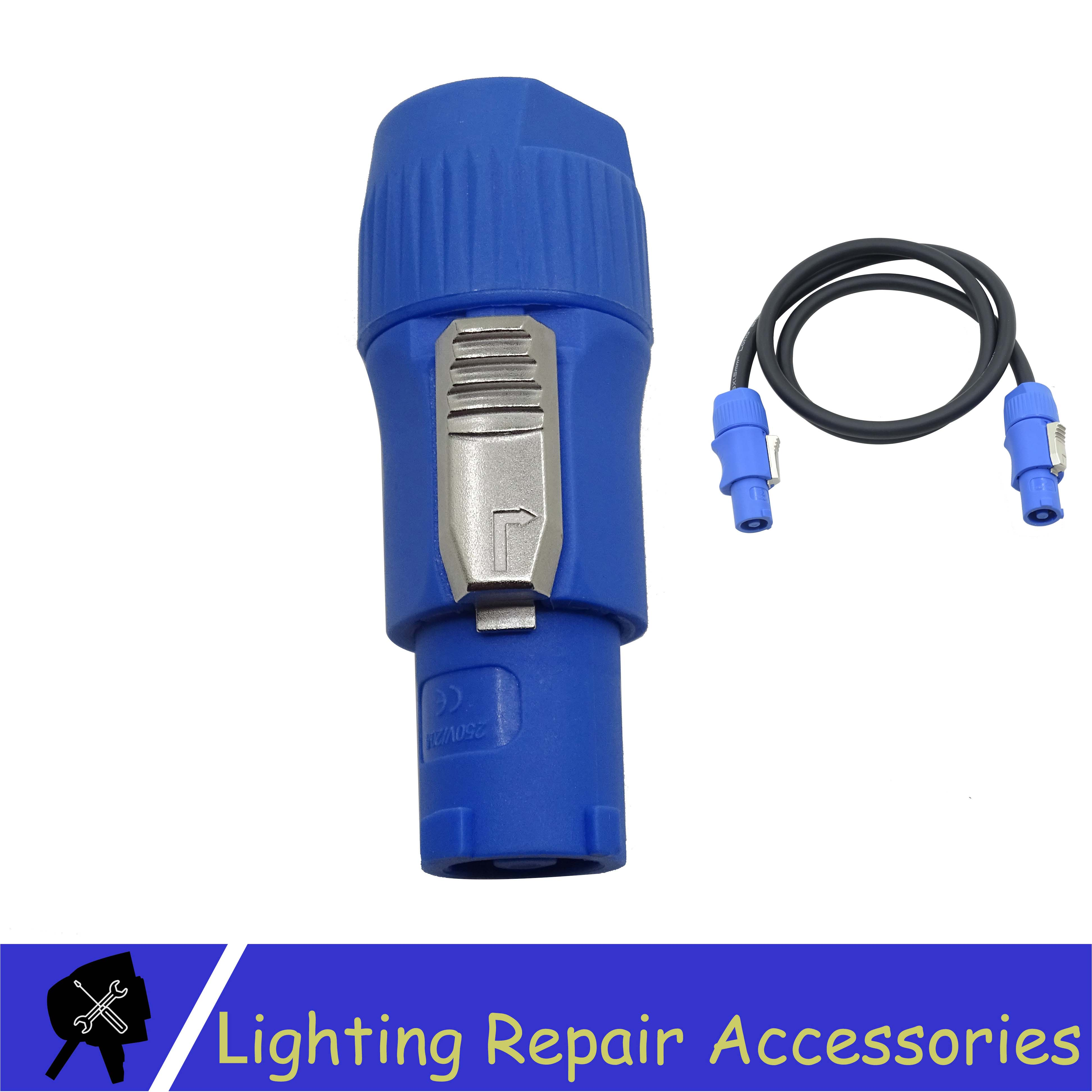 3 PIN Blue Connector Great Quality Power Plug For LED Stage Light Moving Head Light Audio Cable Power Cable