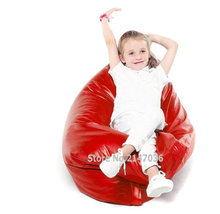 red pillow bean bag cushion , 40inch x 52inch big size portable beanbag sofa seat, waterproof