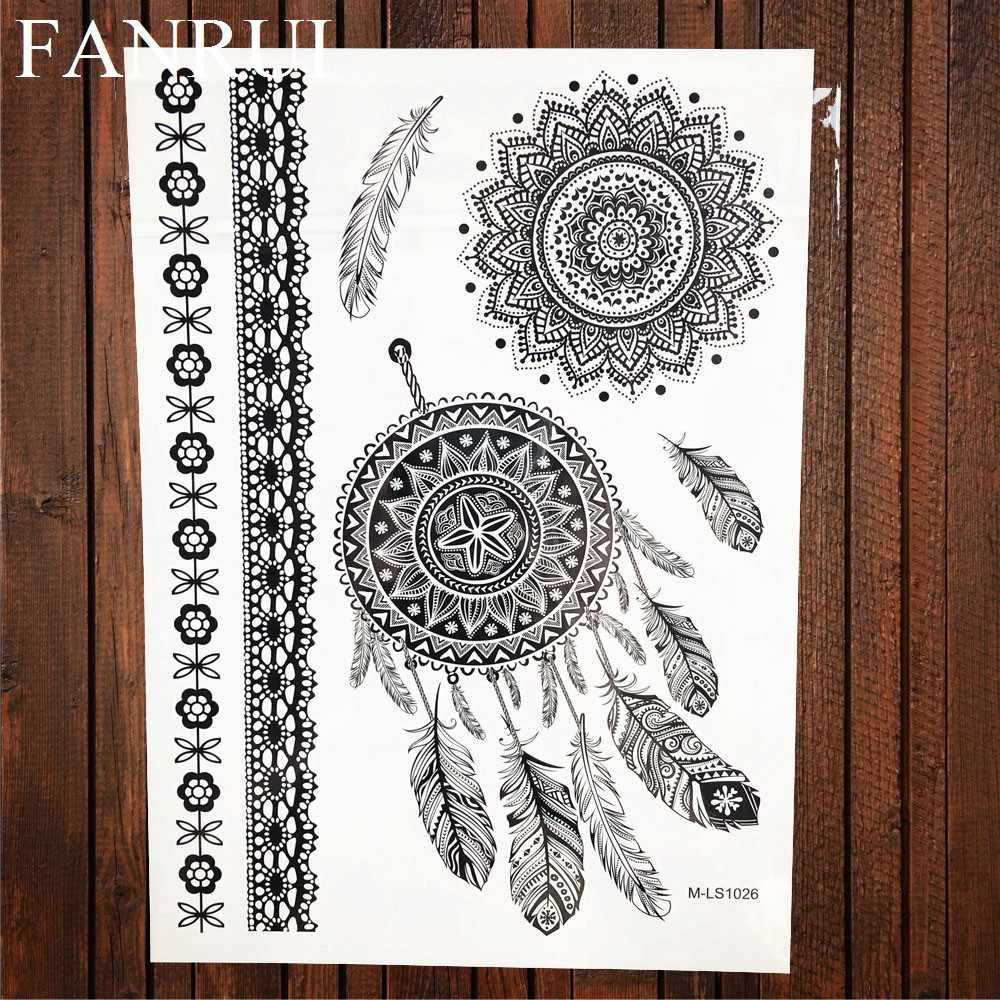 Detail Feedback Questions About 25 Style Black Lace Henna Mandala