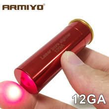 Armiyo 12GA 20 Mm Merah Mata Bor Laser 12 Ukuran Cartridge Gun Boresighter Taktis Tembakan Berburu Optik Sighter Tidak Ada Baterai(China)