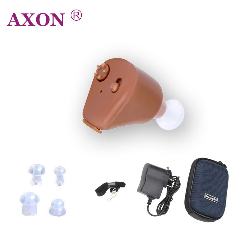 Axon Mini Invisible Sound Amplifier Ear Aid Adjustable Tone Axon K-88 Rechargeable Hearing Aids In-ear for Elderly Hearing loss s 109s rechargeable ear hearing aid mini device sordos ear amplifier hearing aids in the ear for elderly apparecchio acustico