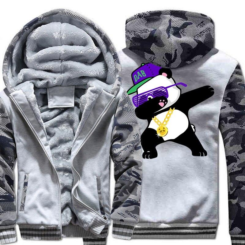 2018 nouveau mode Streetwear Hoodies pour hommes automne hiver polaire manteau Dabbing Panda Hip Hop hommes veste Harajuku sweat haut