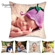 Fuwatacchi Family Customization Pillow Cover Baby Friends Customize Cushion Linen Photo Pillowcase 30cm*50cm
