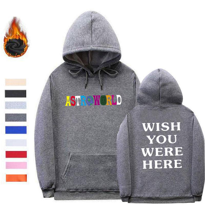 Acheter Streetwear AstroWorld Sweats À Capuche Poleron Hombre Fil Manchette Sweat À Capuche Homme Femme Homme Astroworld Vêtements Grande Taille S XXL