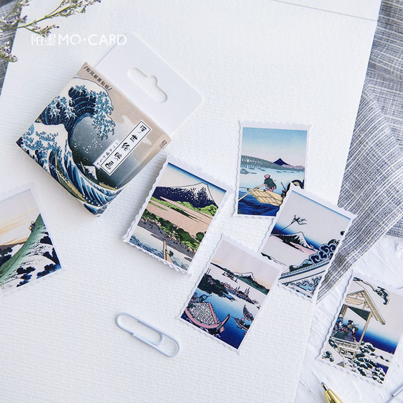 Landscape Painting Stickers Scrapbooking DIY Kawaii Diary Stickers Bullet Journal Stationery School Supplies