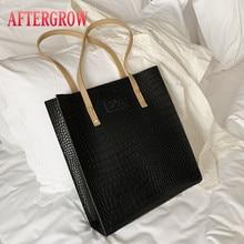 Retro Women Shoulder Bag Female Croco bolsas feminina Alligator Leather Oil Wax large Totes Messenger Shopping Bags Lady Handbag