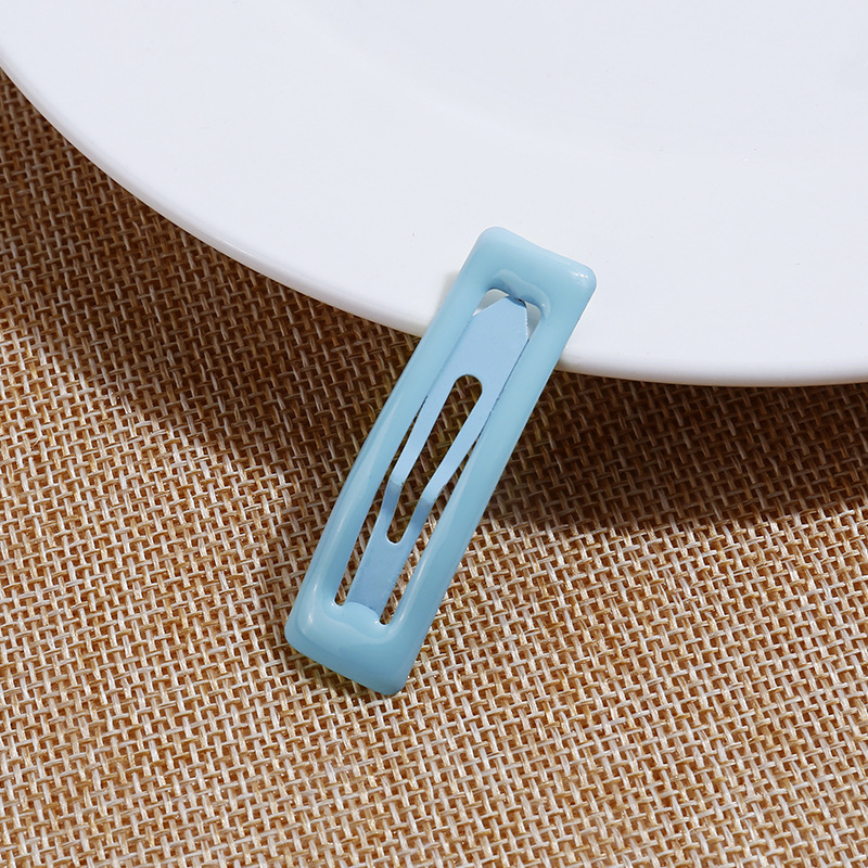 10pcs Candy Color Square BB Clip Square Bangs Edge Clip Water Drop Children Drop Glue BB Clip G0418 in Hair Clips Pins from Beauty Health
