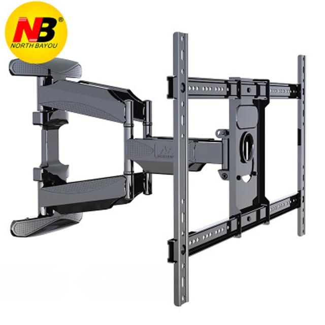 NB 767 L600 Similar P6 40 70 inch Flat Panel LED LCD TV Wall Mount Full Motion 6 Swing Arms Retractable Plasma TV Mount Bracket