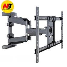 Soporte de montaje en pared de TV NB 767 L600 Similar a P6, 40 70 pulgadas, Panel plano LED LCD, movimiento completo, 6 brazos oscilantes, soporte retráctil de Plasma para TV