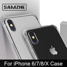 SAMZHE ل شفافة فون X حالة حامي للصدمات 360 درجة غطاء كامل ل فون X