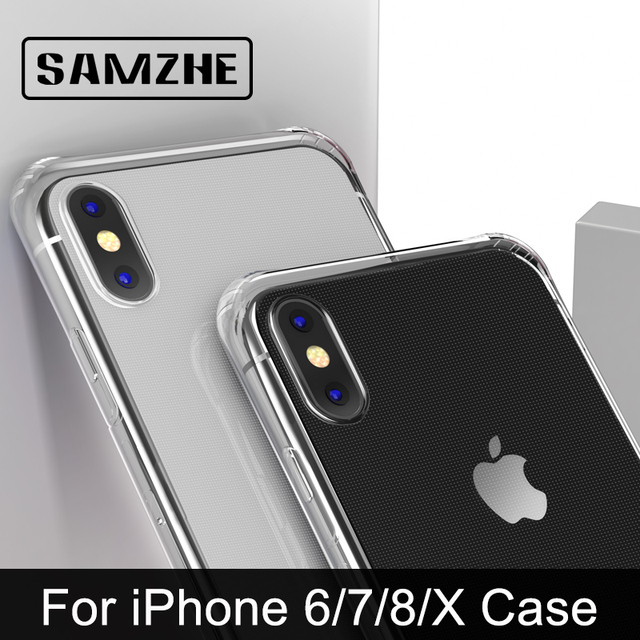SAMZHE for Transparent iPhone X Case Protector Shockproof 360 degree full cover for iPhone X