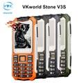 Vkworld piedra 6531d sprd v3s 2.4 pulgadas cámara del teléfono móvil del teléfono móvil gsm dual sim luces led mayor a prueba de agua teclado físico