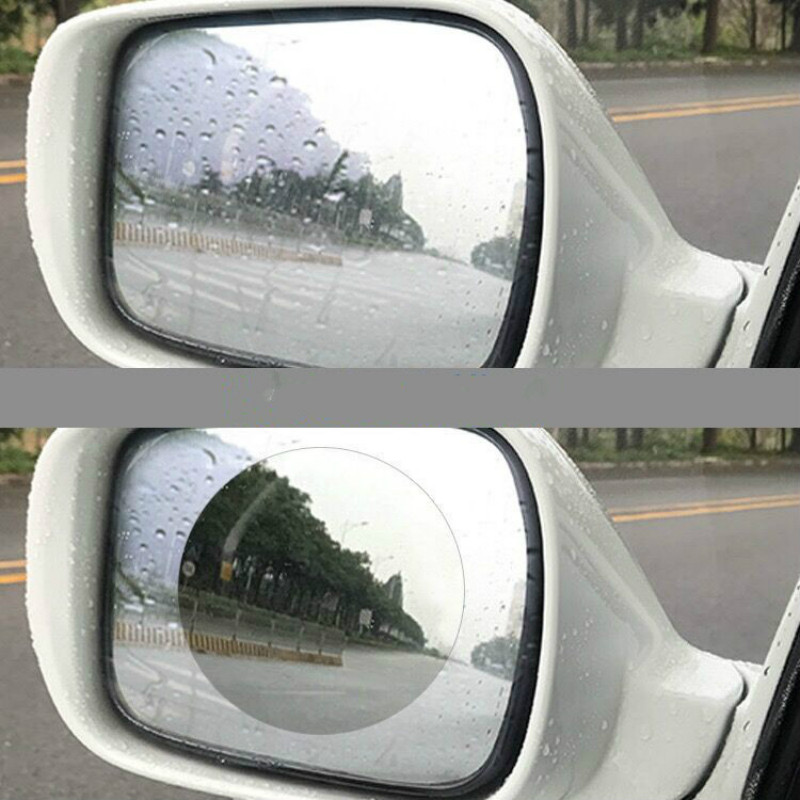 Responsible Polymer Car Sticker Film Rain And Anti-fog Dehydration Protection Car Rearview Mirror Sticker Transparent