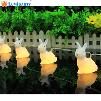 LumiParty New Hot Sale 10 LED Rabbit String Light Christmas Strip Lamp Wedding Home Decoration Creative Gifts