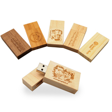 Fashion Personality LOGO Wooden block USB Flash Drive red wood pendrive 4GB 8GB 16GB 32GB Pen Drive Memory Stick wedding gift