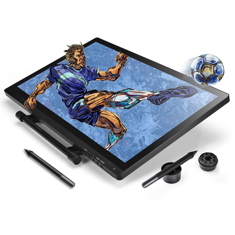 UGEE 2150 21.5inch Graphics Tablet Drawing Monitor 1080P HD Screen IPS Display with 2 Rechargeable Pen
