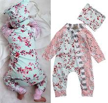 Floral Newborn Baby Girl Long Sleeve Clothing Set