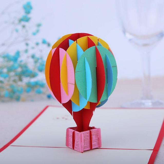 10pcs 3d creative hot air balloon handmade kirigami origami wedding 10pcs 3d creative hot air balloon handmade kirigami origami wedding party invitation cards greeding birthday card bookmarktalkfo Image collections