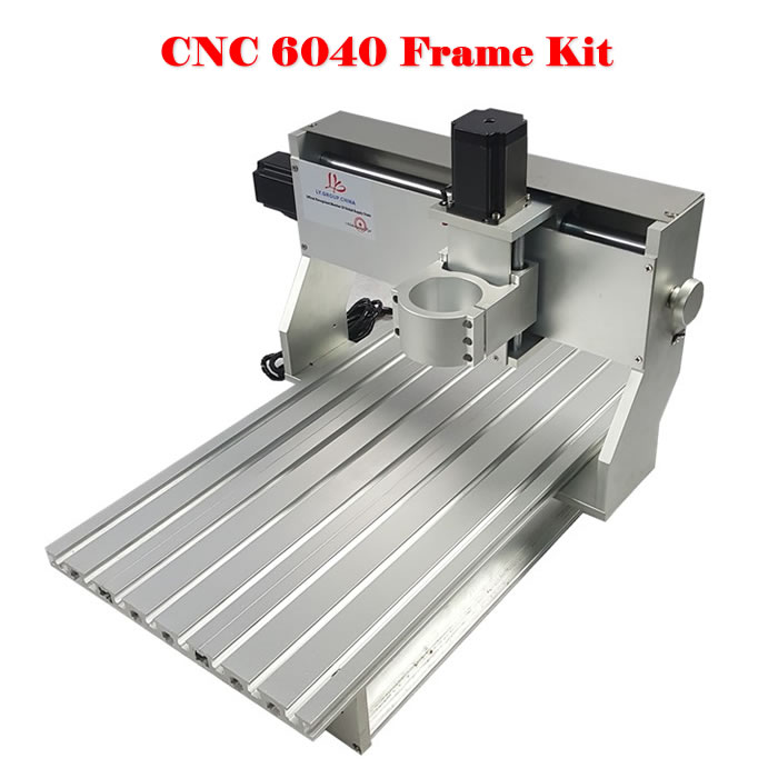 DIY cnc router 6040 CNC Frame with stepper motor ball screw for cnc aluminum parts cnc router wood milling machine cnc 3040z vfd800w 3axis usb for wood working with ball screw