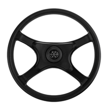 Marine Steering Wheel 13'' 330mm Boat Steering Wheel 4 Spoke Non-directional For 3/4' Tapered Shaft Vessel Yacht Boat Accessorie 360mm aluminum alloy marine boat sport steering wheel 4 spoke 3 4 shaft for canoe kayak inflatable boat replacement accessories