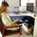 Multifunctoinal full motion borde escritorio/mesa auxiliar/pata de la silla de sujeción alfombrilla de ratón/teclado sostenedor de la bandeja de escritorio del ordenador portátil soporte para portátil