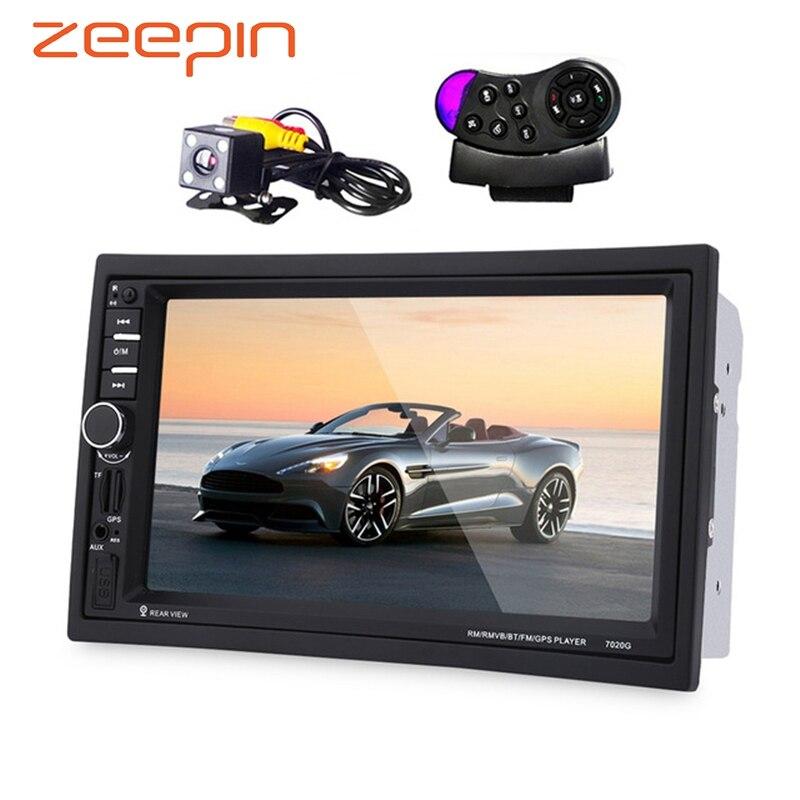 Zeepin 7020 г 2 DIN Авто Мультимедийные плееры для автомобиля + GPS навигация 7 ''HD Сенсорный экран MP3 MP5 аудио стерео Радио Bluetooth FM USB