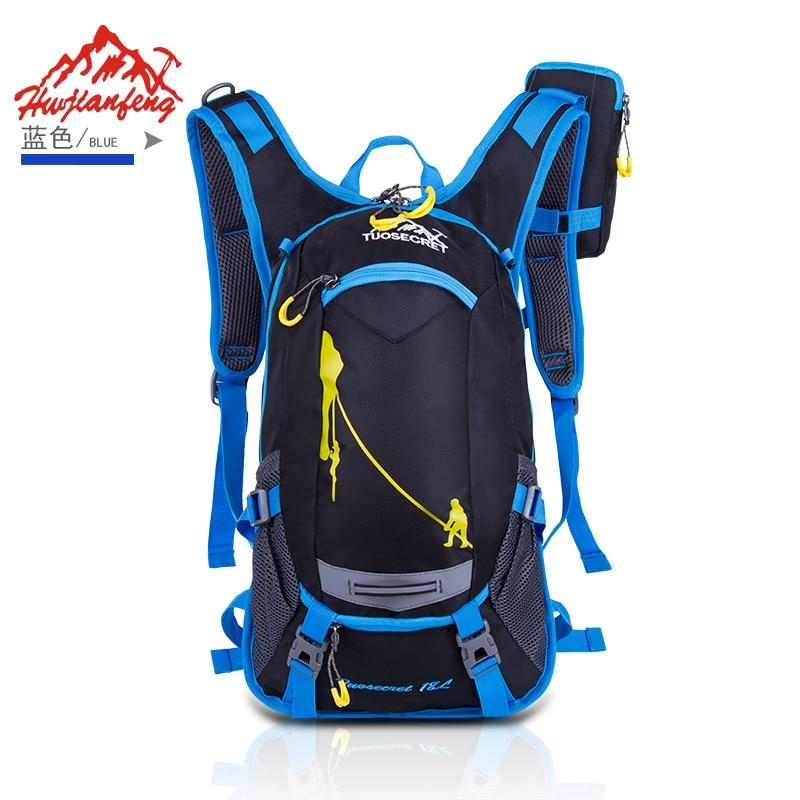 HOT 2019 Al aire libre Bicicleta de montaña mochila turismo viajes ciclismo mochila bolsa de alpinismo impermeable Con casco net 18L