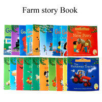 kids Usborne Picture Books Children Baby famous Story English Child Book Farmyard Tales Story Eary education 20Books/Set 15x15cm
