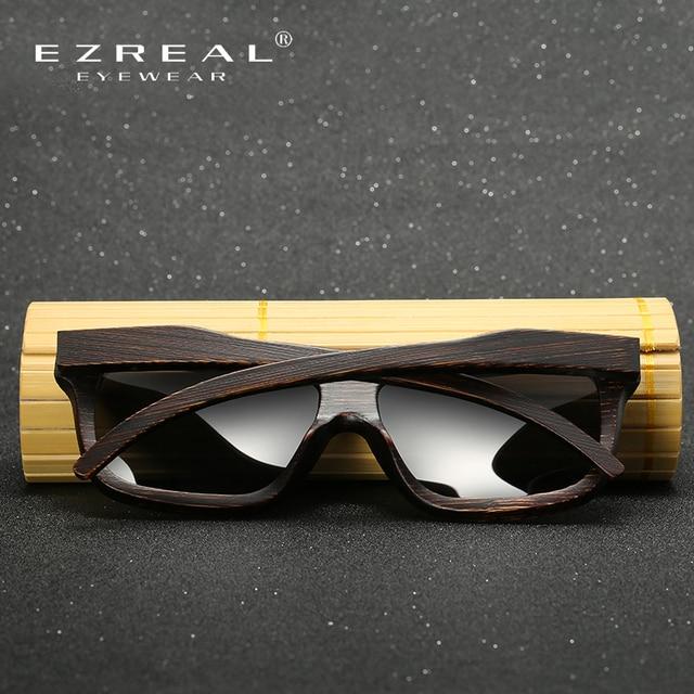 EZREAL Polarized Wood Sunglasses Retro Bamboo Frame Driving Sun Glasses Handmade Wooden Eyewear Glasses For Men Women EZ029 6