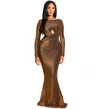 Winter Elegant Glitter Maxi Dress Women Long Sleeve Sexy Hollow Out Criss Cross Front Open Back Evening Long Party Dresses Gowns criss cross faux suede open shoulder dress