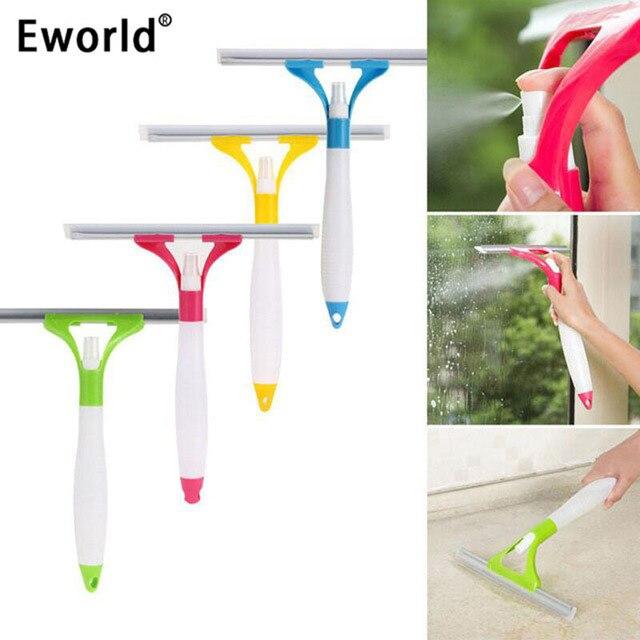 Eworld Hot New Spray Type Cleaning Brush Glass Window Mirror Multifunctional Cleaner Good Helper Car Window Wizard Washing Tool