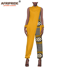 2017 female clothes AFRIPRIDE private custom jumpsuit for women sleeveless ankle length by pure cotton casual  A722104