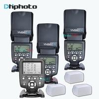 3x Draadloze Speedlite Flash Yongnuo YN560 IV + YN560TX Flash Controller Voor Canon Nikon met gratis 3 Flash Diffuser Doos