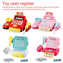 Plastic Mini Simulated Supermarket Checkout Counter Role Girls Cash Register Machine Toys Educational Pretend Play Kids Toys mini portable counter machine multi paper currency handy cash money counter counting machine equipment